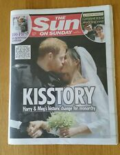 The Sun on Sunday 20 May - The Wedding of Prince Harry & Meghan Markle Reported