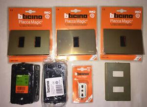 Lotto Bticino Magic Placca S503 11bs 12bs Kit supporti S503 presa bipasso S5180