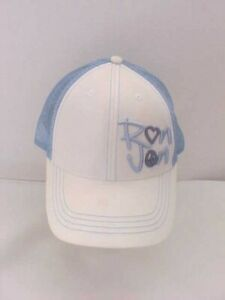 Ron Jon Hat Peace and Love Embroidered Blue & White Adjustable Cap Snap Back
