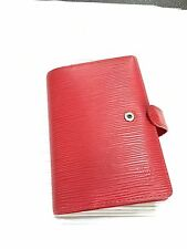 EPI LEATHER LOUIS VUITTON SMALL RING AGENDA COVER MSRP $415