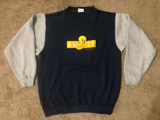 Vtg 1990s Warner Bros Tweety Bird Looney Tunes Sweat Shirt Sweater Men's Size L