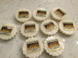 Nine Yankee Candle All Is Bright Scented Wax Melt  /  Tarts