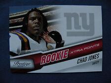 2010 Prestige R/C Chad Jones Giants #128 extra point's #74/100