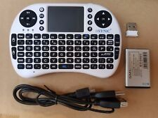 2.4G Mini Wireless Kodi Xbmc Keyboard Touchpad Mouse Combo British white