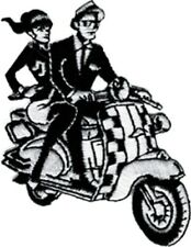6890 Rude Boy & Girl Scooter Ska Checkers Skank Embroidered Sew Iron On Patch