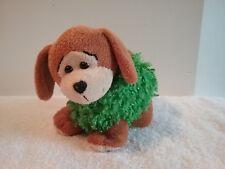 "Plush Puppy Joseph Enterprises Brown & Green Dog Stuffed Animal 6"" Long"