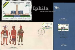 200 years Jat Regiment 1995 India Army Military War Victoria Cross medals FDC