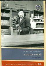 Kapitan Dabač (Captain Dabac 1959) Slovak WW2 classic new dvd English subtitle