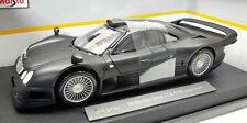 MERCEDES CLK GTR AMG GT-R STREET VERSION 1998 MATT BLACK MAISTO 1/18 36849 BENZ