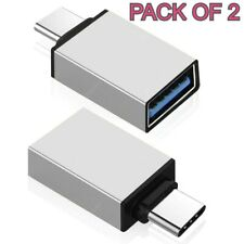 Pack Of 2 USB 3.1 Type C Female to USB 3.0 A Male Data Adapter for Tablet Mobile