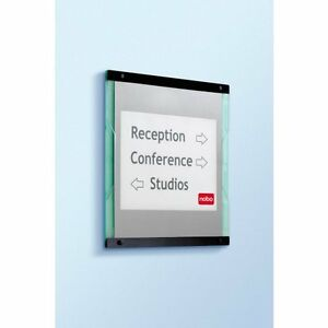 NOBO Display Info Wall Sign Size 460 x 20 x 400mm (display your own message)