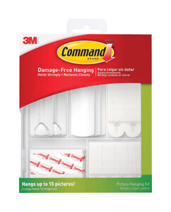 3M COMMAND Assorted ADHESIVE STRIPS PLASTIC Adhesive Strips 38 16 lb 7-1/8in L