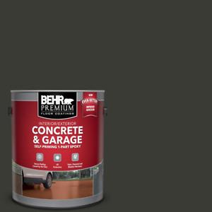 Floor Paint 1 Gal. Jet Black Epoxy Concrete For Garage Basement Patio Driveway