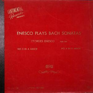 "ENESCO Plays Bach Sonatas 12"" 33RPM 2LP TA Matrix 1st Press Classical RARE"