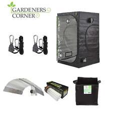 Professional Grow Tent 250W Dual CFL Bulb Reflector Rope Ratchet Fabric Pot