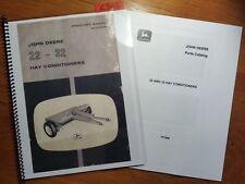 John Deere 22 32 Hay Conditioner Owner Operator Manual OM-E32806 j4 '64 + Parts