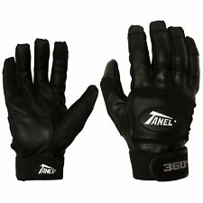 Tanel 360 Smooth Grain Baseball/Softball Batting Gloves - Black - XXL