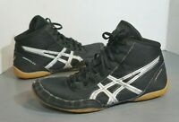 ASICS Matflex 5 ~ J504N Black Silver High Top Wrestling Shoes Size US 12