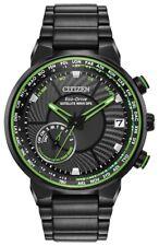 New Citizen Satellite Wave GPS Solar Black PVD Steel Men's Watch CC3035-50E