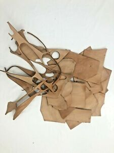 Vegetable Tanned Cow Leather CHIPS & SCRAPS 1 Pound