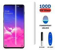 Full Glue UV Light Tempered Glass Screen Protector Samsung S8 S8+ S9 S9+ Note 10