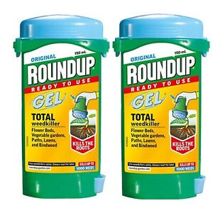 2 X Roundup Gel Weedkiller 150ml Set Of Two Total Round Up Kills The Roots