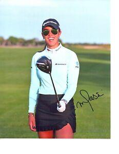 Maria Fassi LPGA star signed autographed 8x10 golf photo coa Mexico Arkansas b