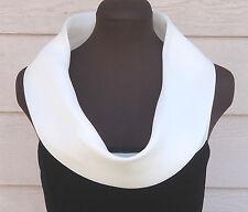 NEW $955 Giorgio Armani 46 Black Velvet Tank White Cowl-neck Blouse US 10