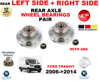 FOR FORD TRANSIT BOX VAN + ABS REAR WHEEL BEARINGS 2006-2014 LEFT and RIGHT PAIR