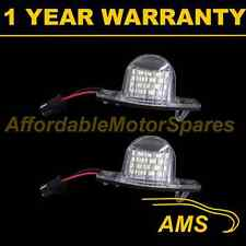 2X FOR HONDA FRV FR-V HRV HR-V ODYSSEY WHITE LED NUMBER PLATE LIGHT LAMPS