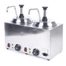 New Listingelectric Nacho Cheese Warmer Pump Dispenser Condiment Melter 2 Pump 30 110 Sale