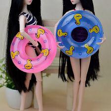 2pcs Swimming Laps Full of Gas Buoy Beach Swim Cork Hoop For Barbie Dolls Gift