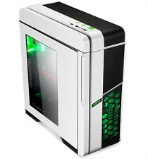 GameMax Midi Case GM-X36W White No PSU Green LED Fan - WINDOW - Fan Control