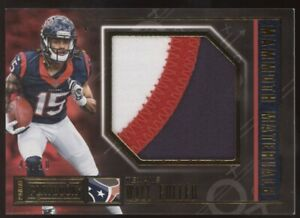 2016 Panini Playbook Will Fuller Mammoth Materials 3 Color Patch RC 44/50