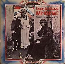 COUNTRY JOE McDONALD: War War War-1971LP Poems of Robert W. Service w/ Insert