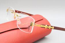 %CARTIER% Eye-wear Rimless Wood Eyeglass Frames Glasses 647G
