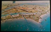 NASA Florida FL Cape Kennedy Space Center Map Postcard Vtg 1960s Rare