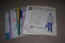 13 Vintage Sheet Music, Rudy Vallee, Dinah, Stein Song, etc