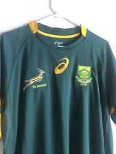 south africa springboks SA rugby asics jersey, Green XL