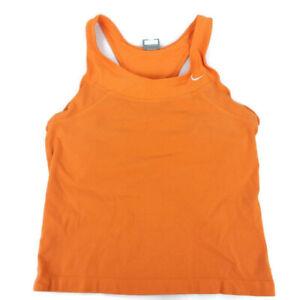 Nike Women's Scoop Neck Orange Racerback Workout Tank Top Large (12-14 Juniors)