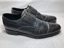Coach Stanford Men's Catalux Gray Lace Up Oxfords Made In Italy Size-10.5 D