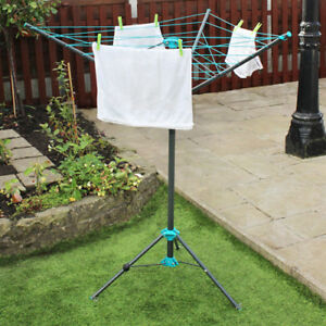 JVL Compact Portable 16 Metre 3 Arm Free Standing Rotary Clothes Airer