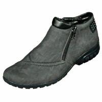 Rieker Stiefel Stiefeletten Boots Damen Schuhe grau 36-42 L4662-45 Neu10
