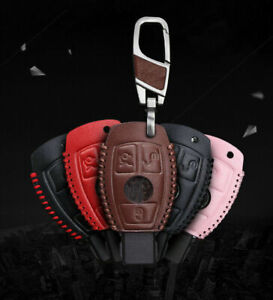 Car Remote 3 Buttons Key Case Holder Cover Chain Protector For Mercedes Benz E