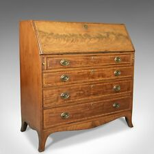 Antique Bureau, Mahogany, English, Georgian, Desk, 18th Century, Circa 1770