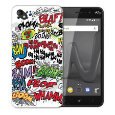 Coque Wiko Sunny 2 Plus + 1 Verre de Protection - Motif Comics