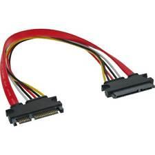 InLine SATA + Power - Extension, sata 6 gb/s + power, Plug / Socket, 11 13/16in