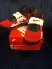 Deion Sanders Nike Air Diamond Turf Vi 6 Red/White/Blk Size 12 rare shoes VI