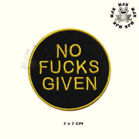 No F--ks Given Logo Patch Iron On Patch Sew On Embroidered Patch