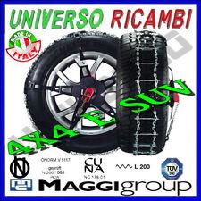 CATENE DA NEVE MAGGI TRAK 4X4 e SUV VELOCI DA MONTARE PER PNEUMATICI 245/55 R16